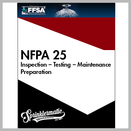 Mar 15th NFPA 25 Inspection Testing Maintenance